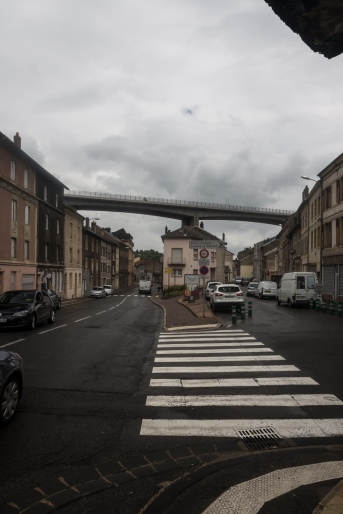 Bridge over village in Hyange