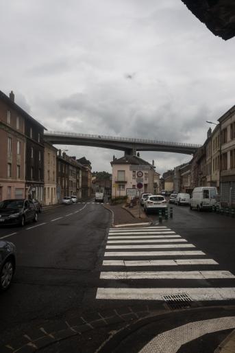 Bridge over village in Hyange